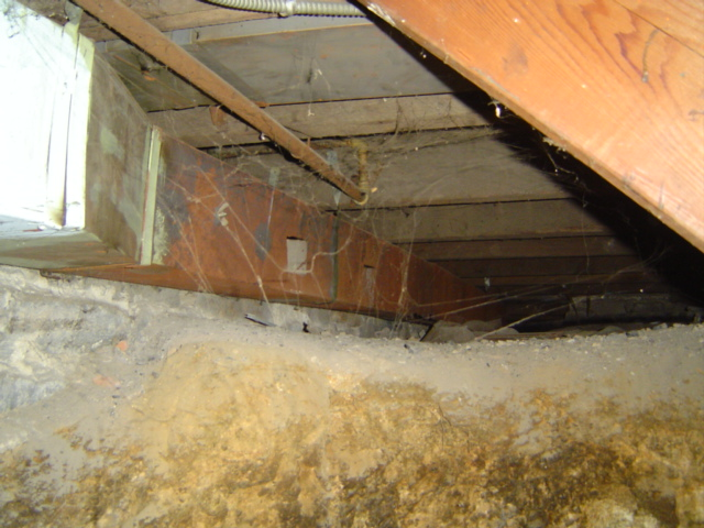 Rusted Ductwork in Crawlspace