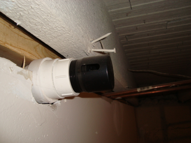 Improperly installed air attmittance vent valve