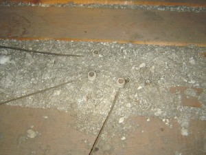 knob and tube in insulation